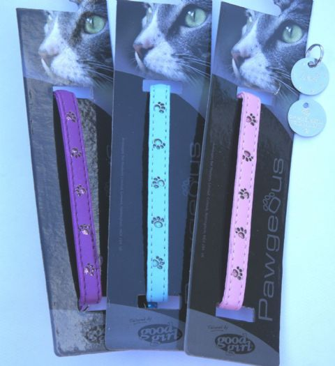 Shimmer Paws collar choice of colour